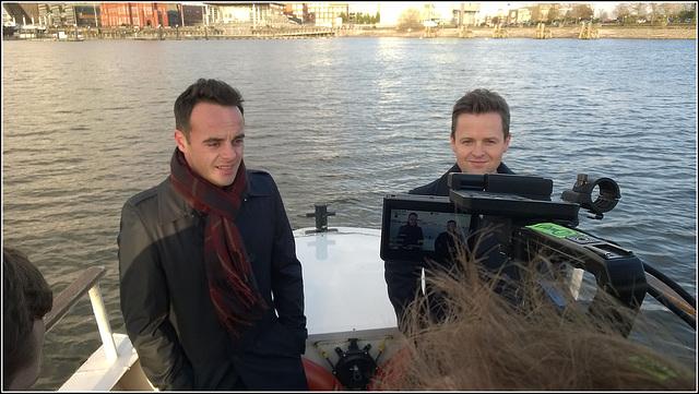 Filming on board