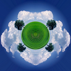 Symmetrischer Vierbaumplanet - Symmetrical Four-Tree-Planet (135°)