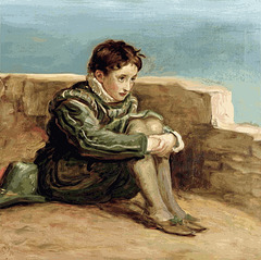 Millais: Study for 'The Boyhood of Raleigh'