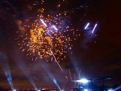 Cergy, le feu d'artifice annuel sur le thème de Saint-Exupéry
