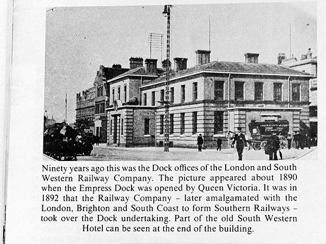 c1890 London and South Western Railway Southampton Docks Office