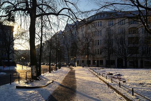 Eisiges Berlin (auf dem Weg zur Günzelstraße), 25.1. 2014