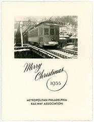 Merry Christmas, Metropolitan Philadelphia Railway Association, 1955