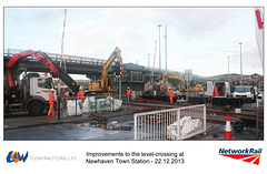 Newhaven Town level crossing works - 22.12.2013 a