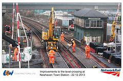 L&W Contractors Ltd Ro-Rail crane - Newhaven Town level crossing works - 22.12.2013 b
