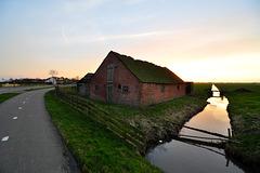 Old barn in Zoeterwoude-Weipoort