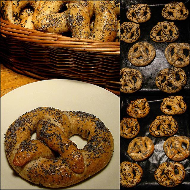 (Whole -Wheat Spelt) Soft Pretzels - Laugen Bretzel