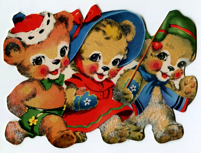 Fuzzy Christmas bears