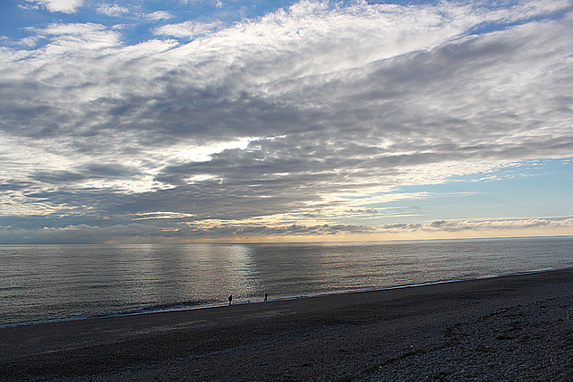 Big sky, little people - Newhaven - 30.1.2014