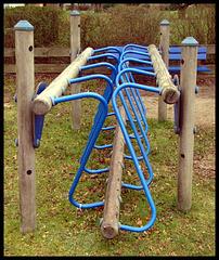 Some strange equipment at the playground