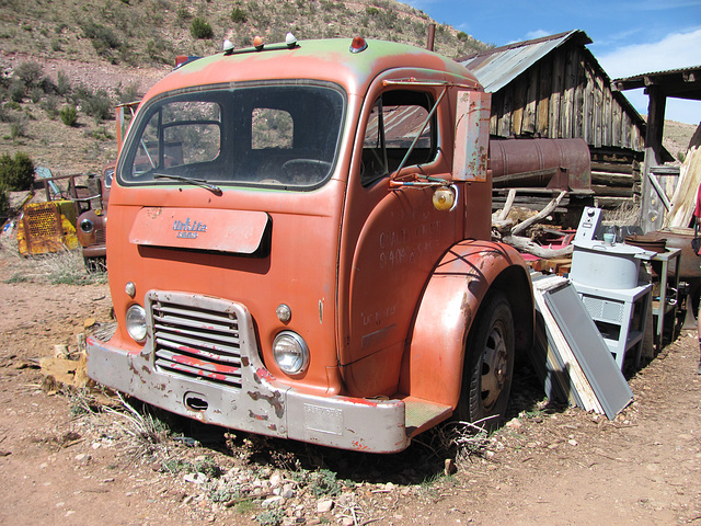 Ipernity 1963 White 3000 Coe Cab Over Engine Truck By