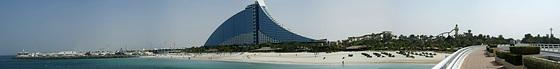 Jumeira-Beach-Hotel mit Strand, Marina und Vergnügungspark.  ©UdoSm