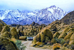 Alabama Hills and Lone Pine Peak, Febr. 1980