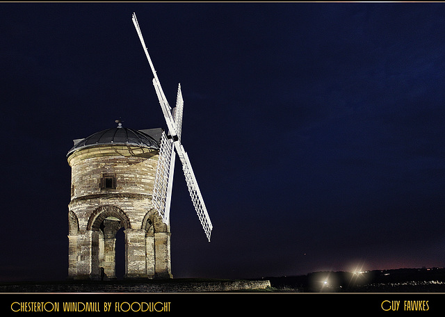 Chesterton Windmill by floodlight