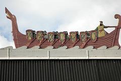 Un Drakkar sur le toit