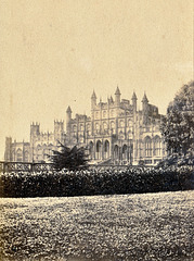 Eaton Hall, Cheshire (long demolished) from an 1860s carte de visite