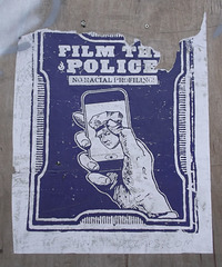 Film the police /No racial profiling.