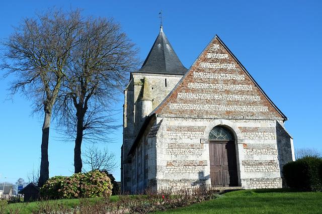 Eglise de St-Jean d'Abbetot à la Cerlangue - Seine-Maritime