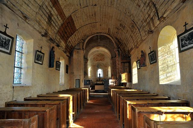 Nef de l'église de St-Jean d'Abbetot à la Cerlangue - Seine-Maritime