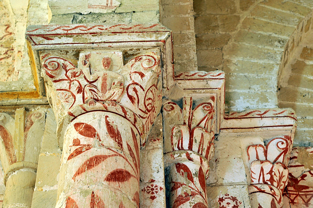 Chapiteaux romans de l'église de St-Jean d'Abbetot