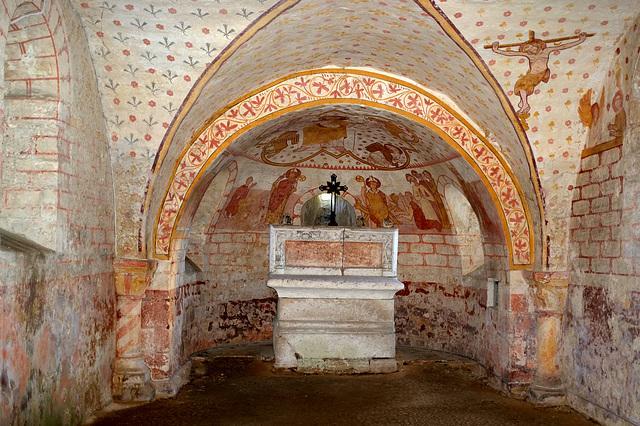 La crypte de l'église de St-Jean d'Abbetot - Seine-Maritime