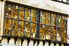 Guild Hall reflected in Bessie Surtees House windows