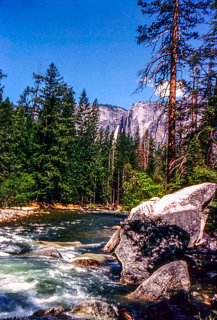 Along Happy Isles Trail, Yosemite National Park, 1985  (330°)