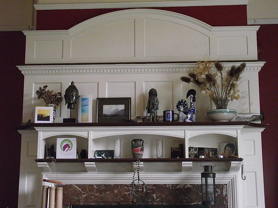 The lovely mantlepiece in the other lounge