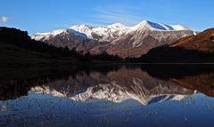 Beinn Eighe across Loch Cullin, Wester Ross, Scottish Highlands