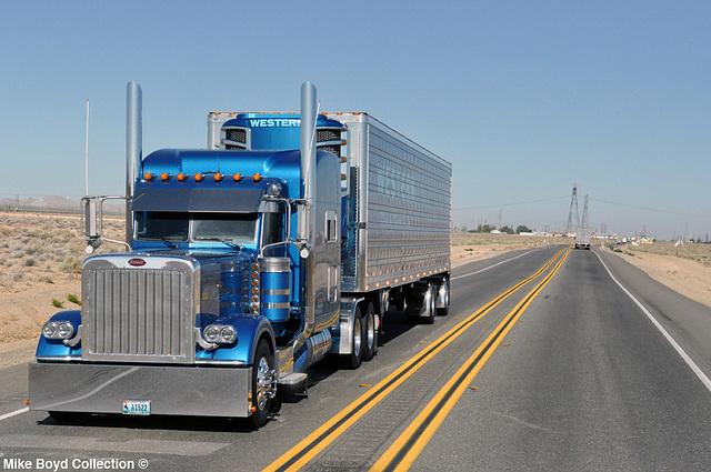 western dist transportation pb 379 reefer van ca sr58 boron ca 07'14