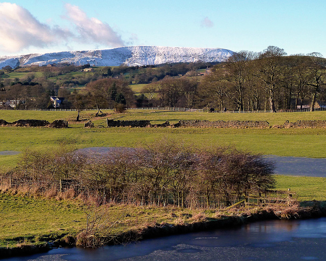 Pendle Hill in Winter.