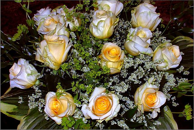 Ein Rosenstrauß für meine Frau