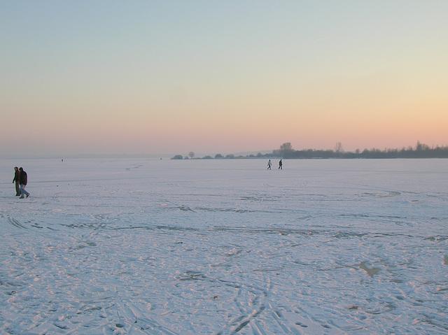 Lac de Madine gelé