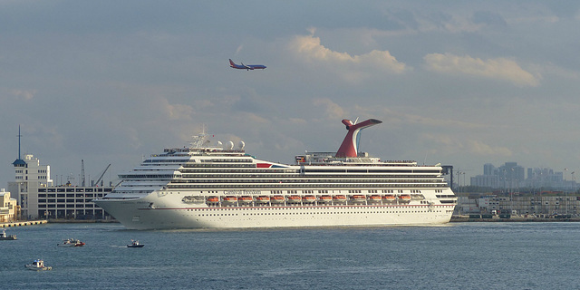 Carnival Freedom at Port Everglades (2) - 25 January 2014