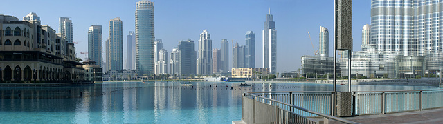 Lake Burj Khalifa im Stadt-Teil Down Town. ©UdoSm
