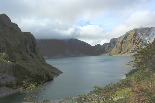Looking Down Into Mt Pinatubo Crater Lake