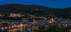 Heidelberg zur Blauen Stunde - Blue Hour over Heidelberg (165°)