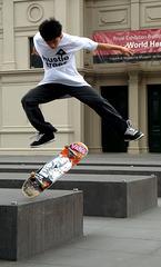 Skateboarder, Melbourne Museum forecourt