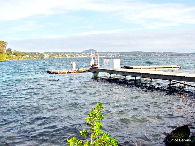 Sea plane platform, Lake Taupo