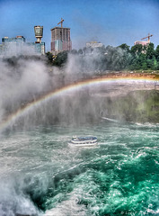 Maid of the Mist under the Rainbow, Niagara Falls 2002 (270°)
