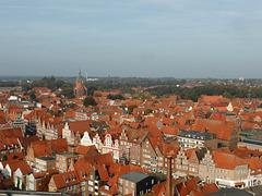 Blick vom Wasserturm über Lüneburg
