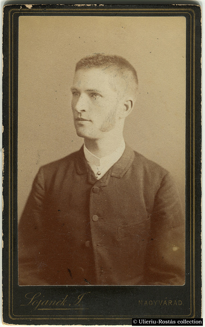 Portrait of a young man by Lojanek János (recto)