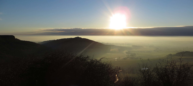 View from Sutton Bank, late afternoon in January