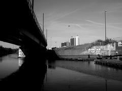 Dark water Bridgewater canal.