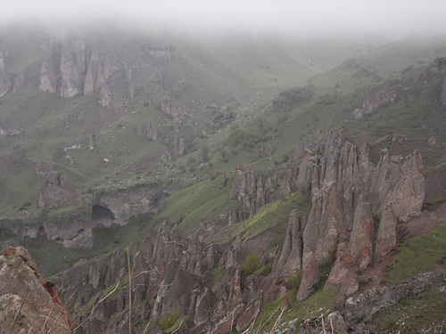 Pinnacle Rock Formations Near Goris
