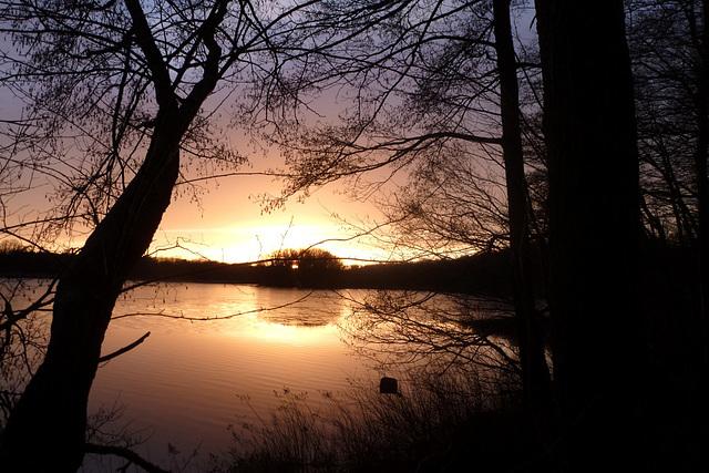 Sonnenuntergang bei Moritzburg - Sachsen