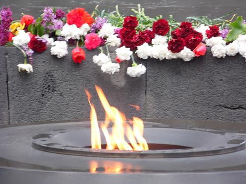 Eternal Flame at the Armenian Genocide Memorial
