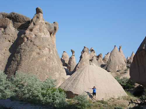 Jo in Cappadocia
