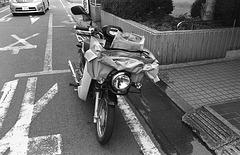 Newspaper delivery bike