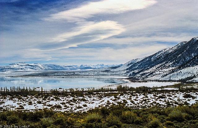 Mono Lake and White Mountains, Febr. 1990 (165°)